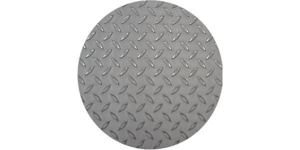Plaque inox antidérapant ronde