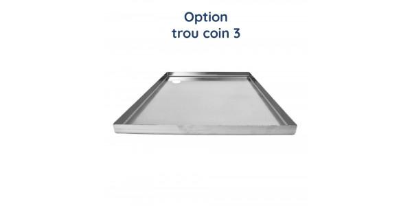 Plaque aluminium brut découpe gauche