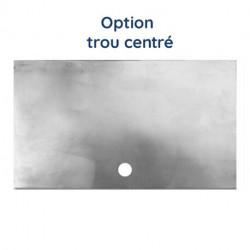 Plaque aluminium brut découpe en U