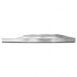 Plaque aluminium brut avec 1 trou
