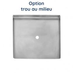 Plaque aluminium brut avec 2 trous
