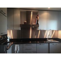 Plaque aluminium brut découpe droite