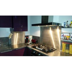 Plancha inox ronde avec poignées