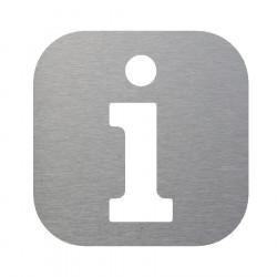 Plaque signalétique pour point information