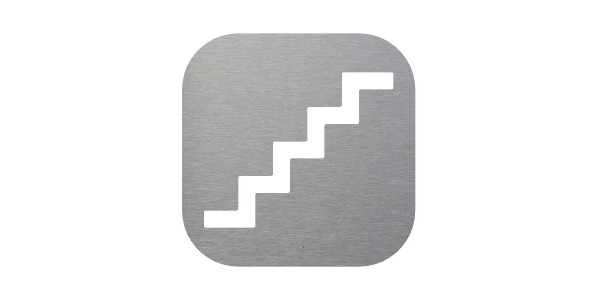Plaque signalétique montée descente escalier