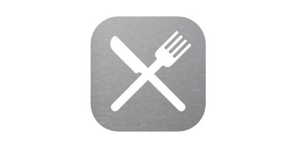 Plaque signalétique pour salle de restaurant