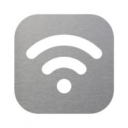 Plaque signalétique en inox pour espace wifi