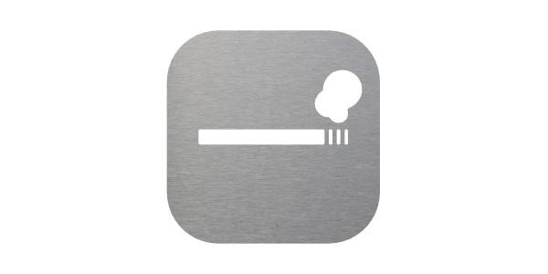 Plaque signalétique espace fumeur