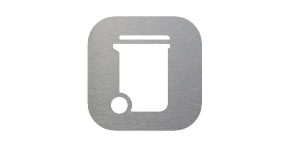 Plaque signalétique pour local poubelle