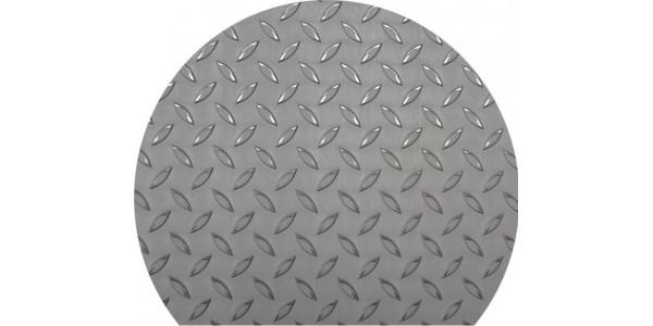 Plaque inox antidérapant disque tronqué