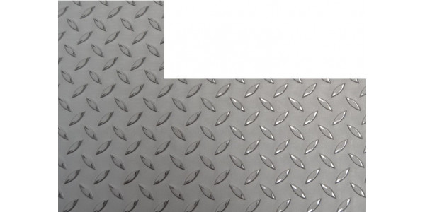 Plaque inox antidérapant rectangle coupé a droite