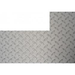 Plaque inox antidérapant rectangle coupé a gauche