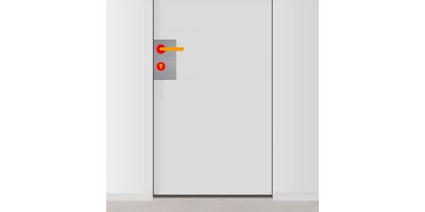 plaque de propret de porte avec trou pour serrure et poign e gauche. Black Bedroom Furniture Sets. Home Design Ideas