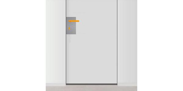 plaque de propret de porte avec trou gauche pour. Black Bedroom Furniture Sets. Home Design Ideas