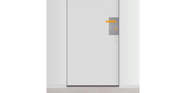 plaque de propret de porte avec trou pour poign e et serrure droite. Black Bedroom Furniture Sets. Home Design Ideas