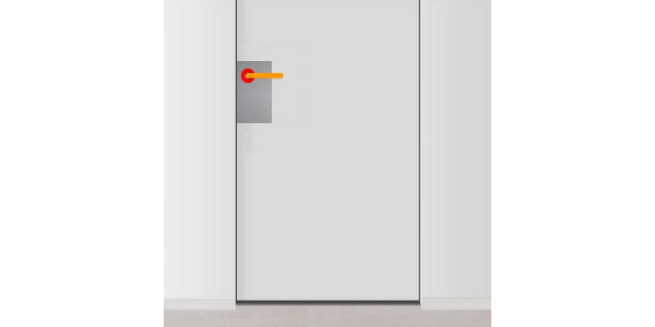 Plaque de propret de porte avec trou uniquement pour for Plaque de proprete porte