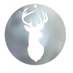 Boule de Noël tête de renne