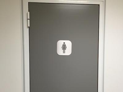 plaque signalétique inox toilette femme