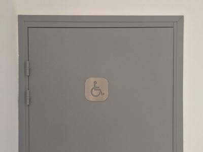 plaque signalétique inox toilette handicapé