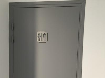 plaque signalétique inox toilette homme femme