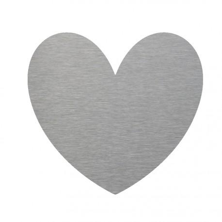 Coeur inox déco
