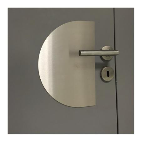 Plaque de protection inox bross pour bas de porte largeur - Plaque inox brosse pour cuisine ...
